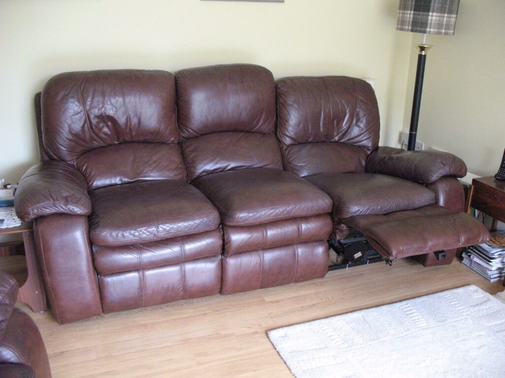 Leather Recliner Gumtree Glasgow Brown Leather Electric Recliner Sofa 3 Seater In Nailsea