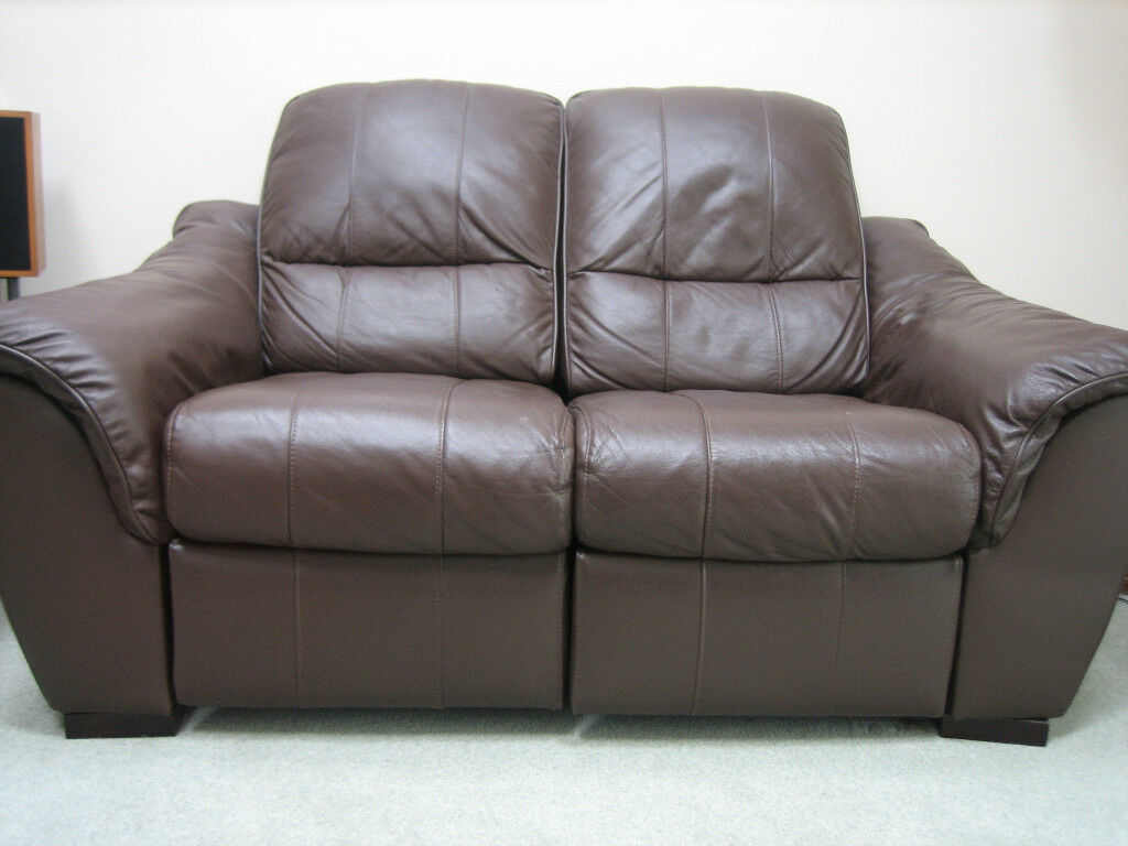 Leather Recliner Gumtree Glasgow Leather Sofa Settee Recliner 2 Seater Brown In