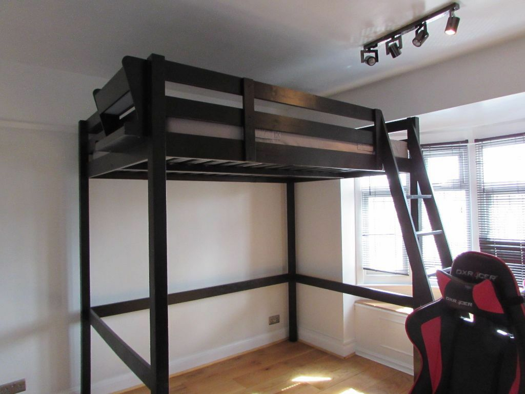 Double Beds Ikea Ikea Stora Loft Bed And Mattress Double High Sleeper In