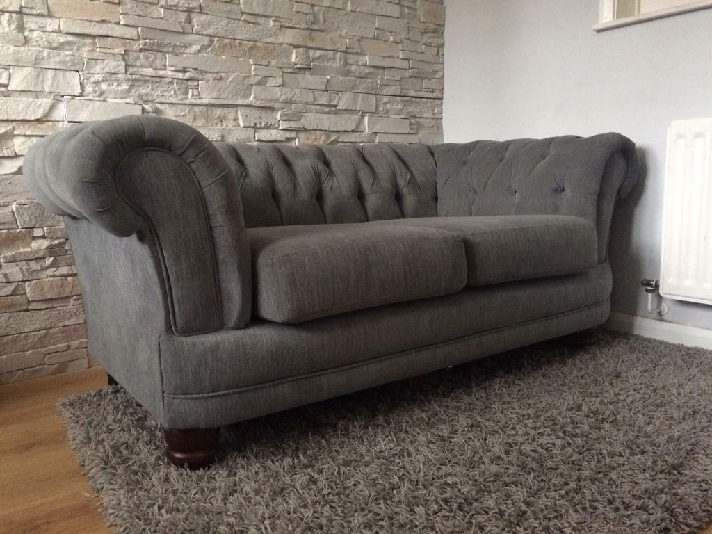 2 Seater Chesterfield Sofa Gumtree 2 Seater Chesterfield Sofa Luxury Grey In Basford