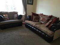 Scs Chesterfield 3 seater sofa and 2 seater love chair ...
