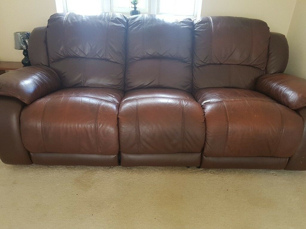 Leather Recliner Gumtree Glasgow 3 Seater Leather Recliner Sofa In Coventry West