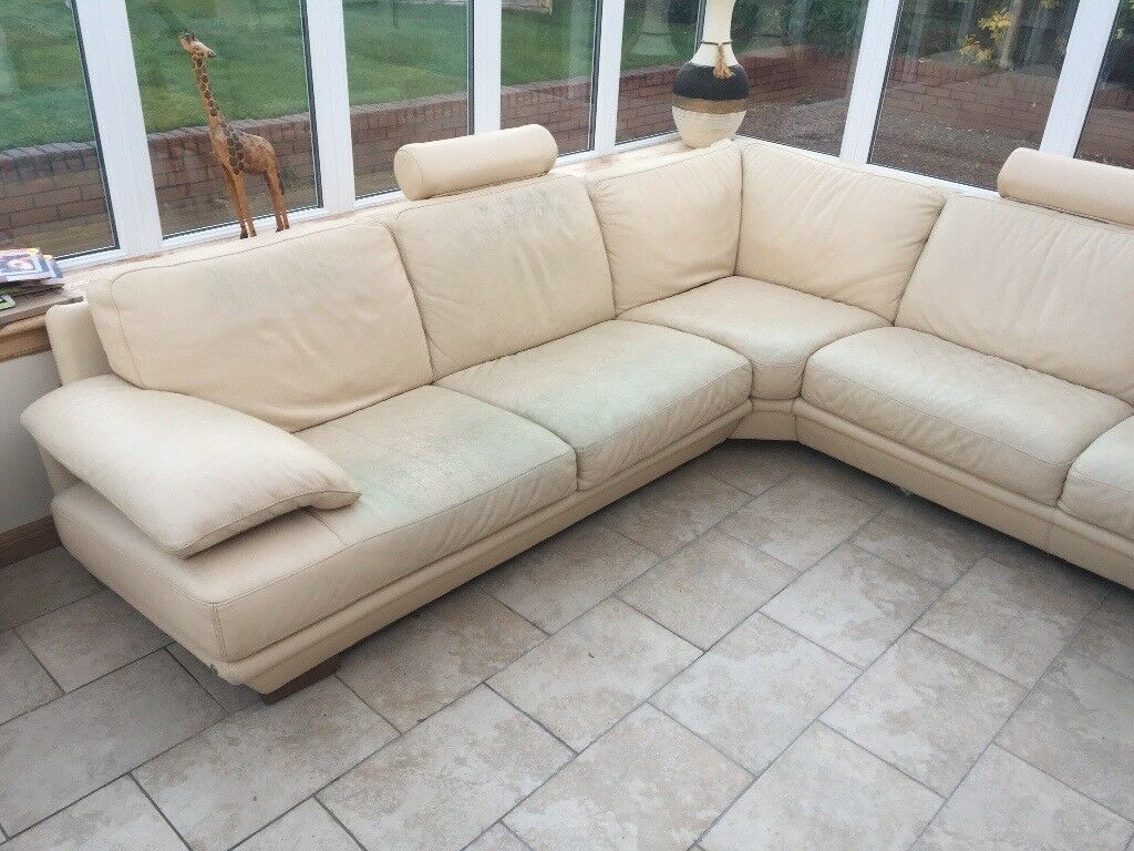 Leather Recliner Gumtree Glasgow Natuzzi Cream Leather Corner Sofa In Southside Glasgow