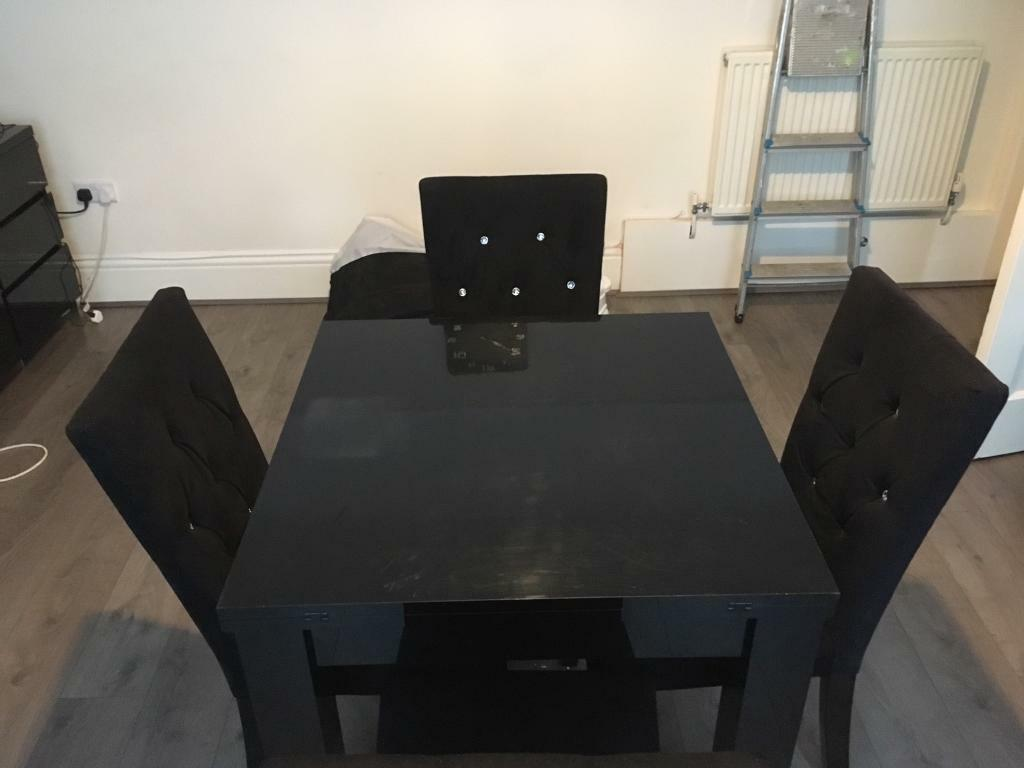 Black Dining Table And Chairs Next Black High Gloss Dining Table And Chairs In