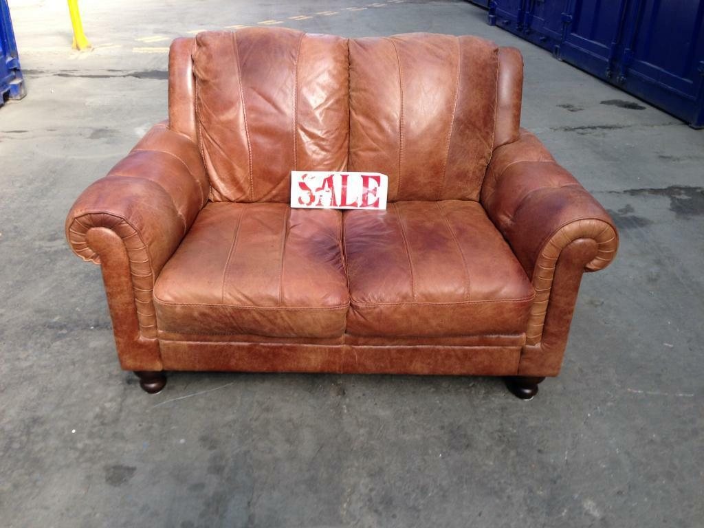 2 Seater Chesterfield Sofa Gumtree Chesterfield Distressed Tan Leather 2 Seater Sofa Settee
