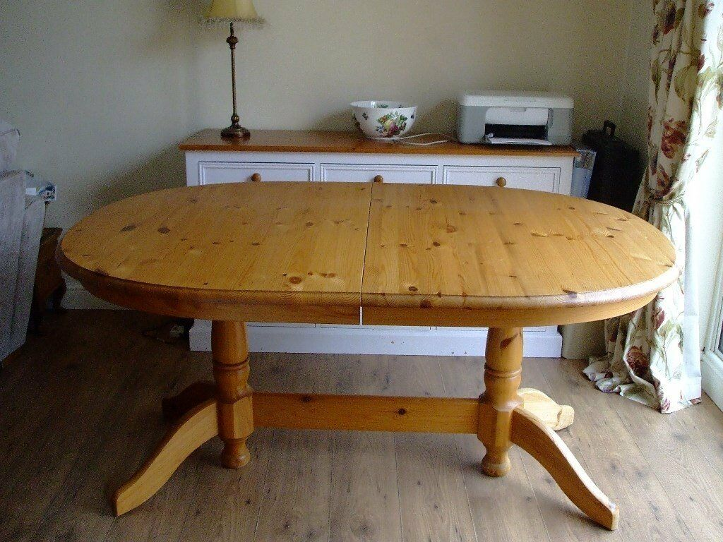 Esstisch Pinie Massiv Ausziehbar Oval, Extending, Solid Pine, Dining Room Table | In