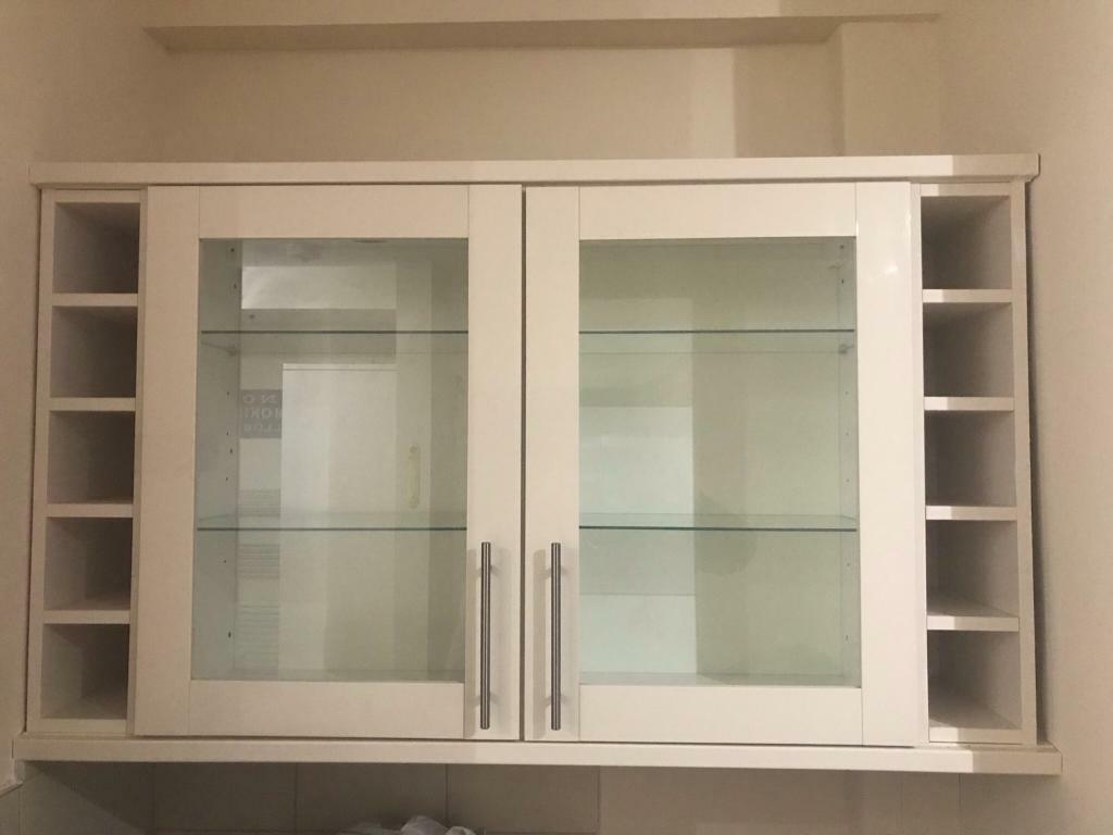 Howdens Kitchen Base Cabinets Howdens Kitchen Unit Display Cabinet Cupboard Cream Gloss