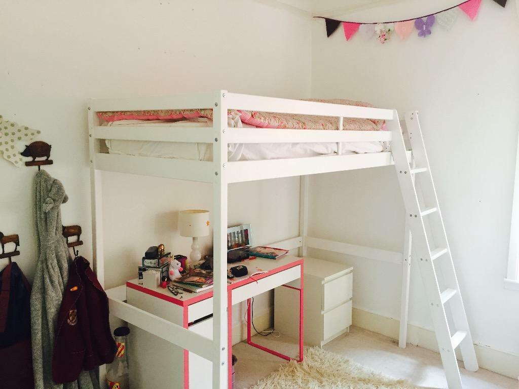 Single Beds For Sale White Wooden High Sleeper Bed For Sale In Clapham Common