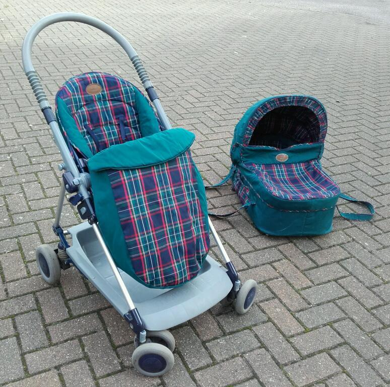 Double Pushchair With Buggy Board Mothercare Olympus Pushchair With Carrycot In Waterbeach