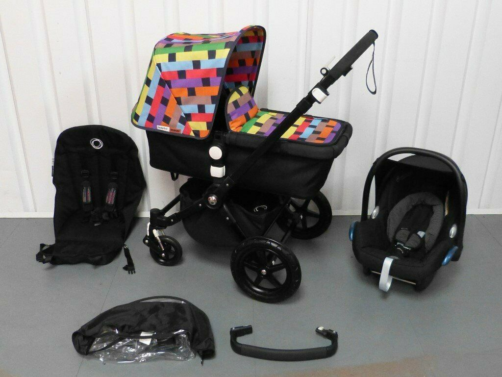 Newborn Car Seat Shoulder Pads Limited Edition Missoni Full Black Bugaboo Cameleon 3