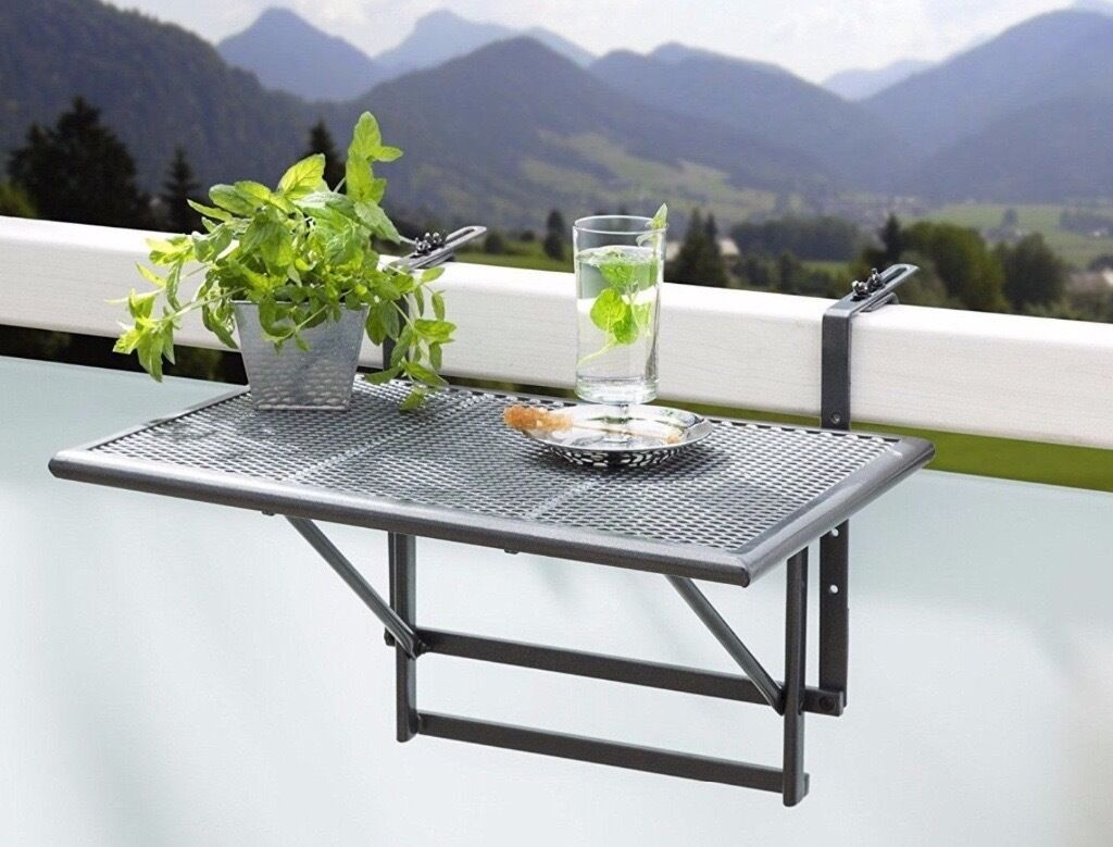 Small Folding Hanging Table For Balcony Patio Garden