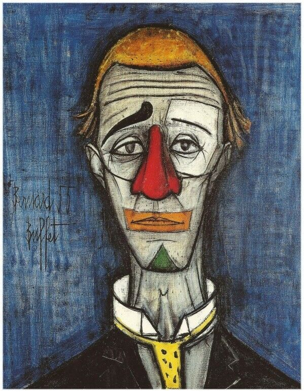 Sofa Bed Gumtree London Bernard Buffet Le Clown Bleu (1955). Lithograph. Framed