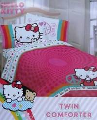 Hello Kitty Peace Twin Comforter Sheets 4pc Bedding Set ...