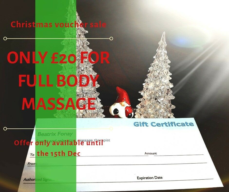 Massage vouchers for Christmas presents for sale*** in Newtownards