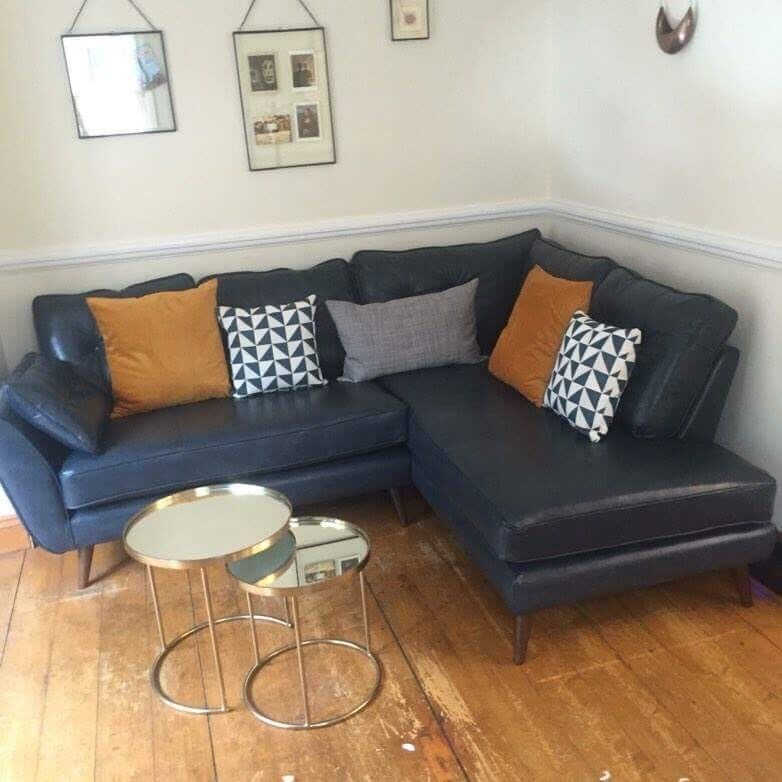 Gumtree Sofas For Sale East London Dfs French Connection Zinc Leather Left Arm Facing Corner