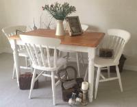 Shabby Chic Farmhouse Table And Chairs Kitchen Dining ...