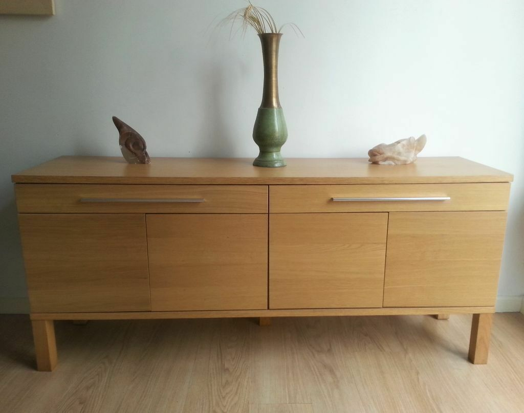 Ikea Bjursta Credenza : Sideboard tv unit ikea besta mounted on wall added brass