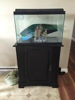 20 gallon fish tank stand and acc 20 gallon tank
