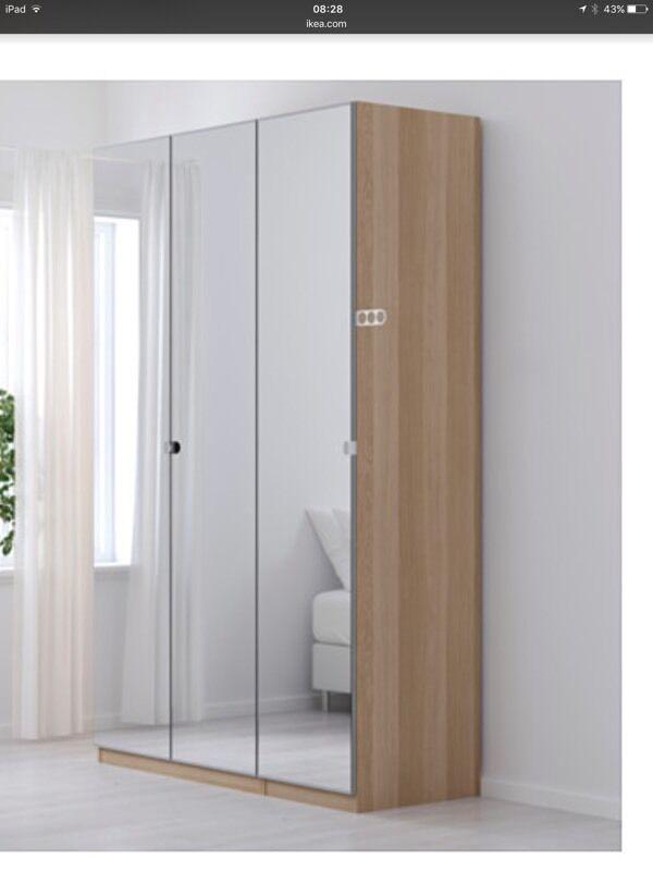 Ikea Pax 6 Door Mirrored Wardrobe In Durham County