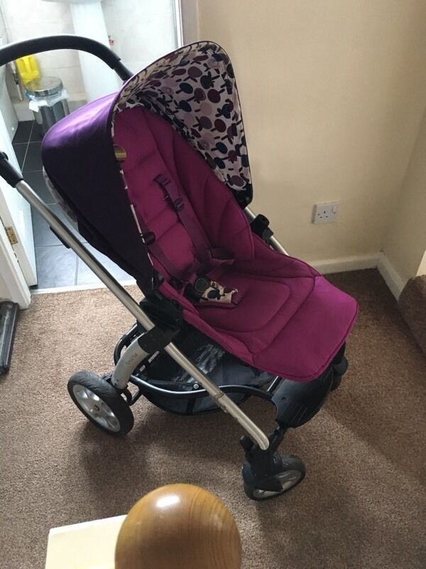 Baby Stroller Travel System Uk Mamas And Papas Purple Sola Pram In Gateshead Tyne And