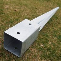 8 FENCE POST SPIKE HOLDER 75MM GARDEN DRIVE IN FENCE SPIKE