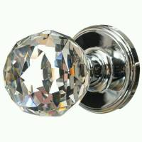 3 pairs of REAL GLASS ROUND BALL MORTICE KNOBS Crystal ...