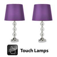 Pair Purple Lamps | eBay