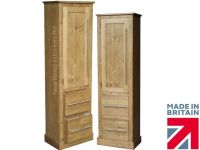 Solid Wood Slim Cupboard, Tall Linen, Pantry, Hallway ...