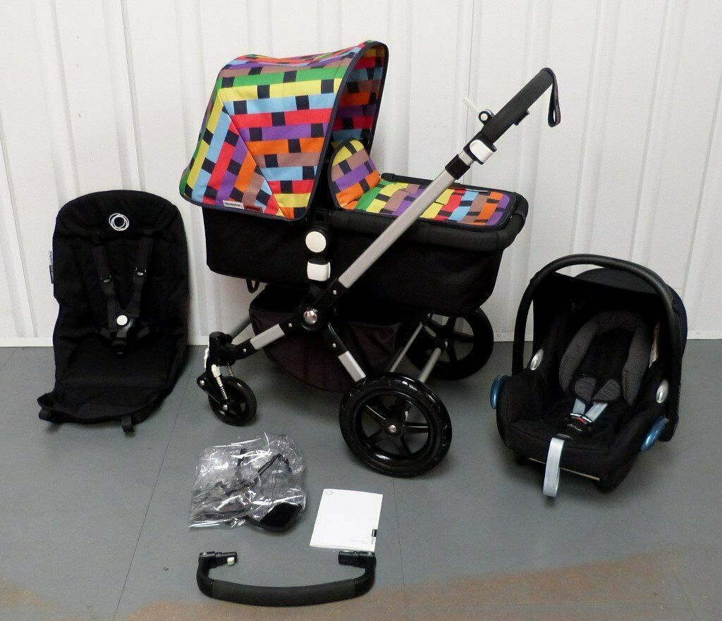 Newborn Car Seat Shoulder Pads Limited Eddition Missoni Bugaboo Cameleon 3 Full Travel