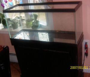 30 gallon Glass Aquarium Wooden Stand 30 gal Fish Tank 36 x 12 wide x