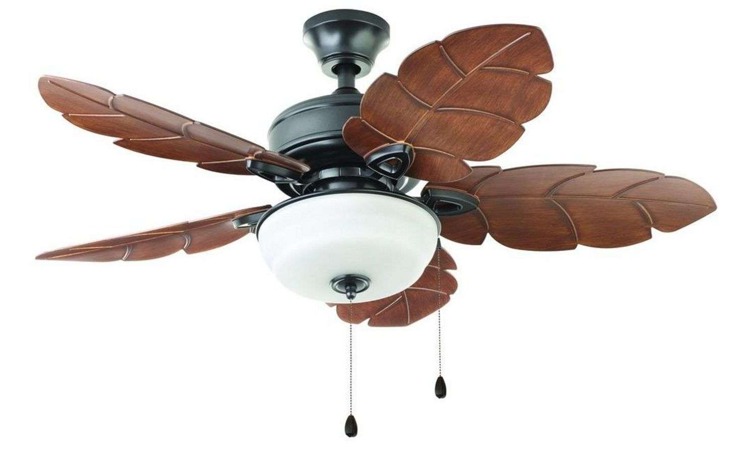 Leaf Ceiling Fan Blades Tropical Style Indoor Outdoor Ceiling Fan 44 In Palm Leaf