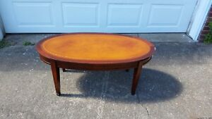 Antique Leather Top Table Ebay