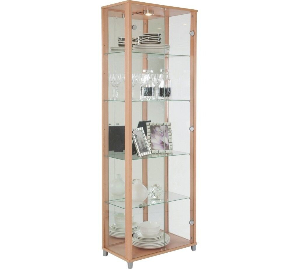 Glass Display Cabinet Glass Display Cabinet Beech Effect In Aberdeen Gumtree