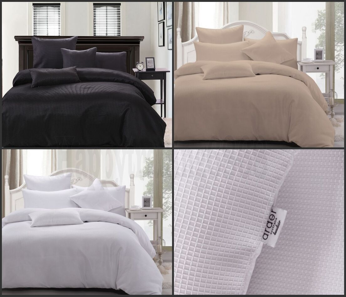 King Single Doona Cover Waffle Weave King Queen Double Single Quilt Doona Cover