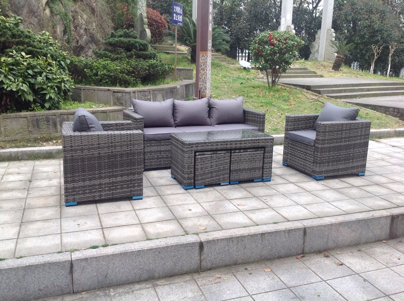 Rattan Garden Sofa Set Ebay New Rattan Wicker Conservatory Outdoor Garden Furniture
