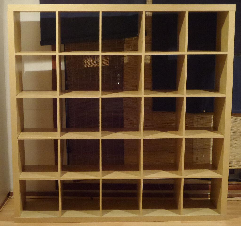 Ikea Expedit Kallax 5x5 6ft Storage Cube Unit Bookcase In
