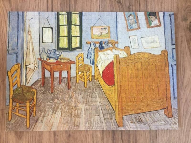 Assembled 1000 pcs jigsaw puzzle Vincent Van Gogh - La Chambre - Description De La Chambre De Van Gogh