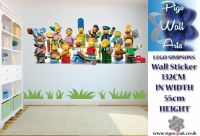 Lego Simpsons Wall Sticker Kids Bedroom Wall Sticker ...