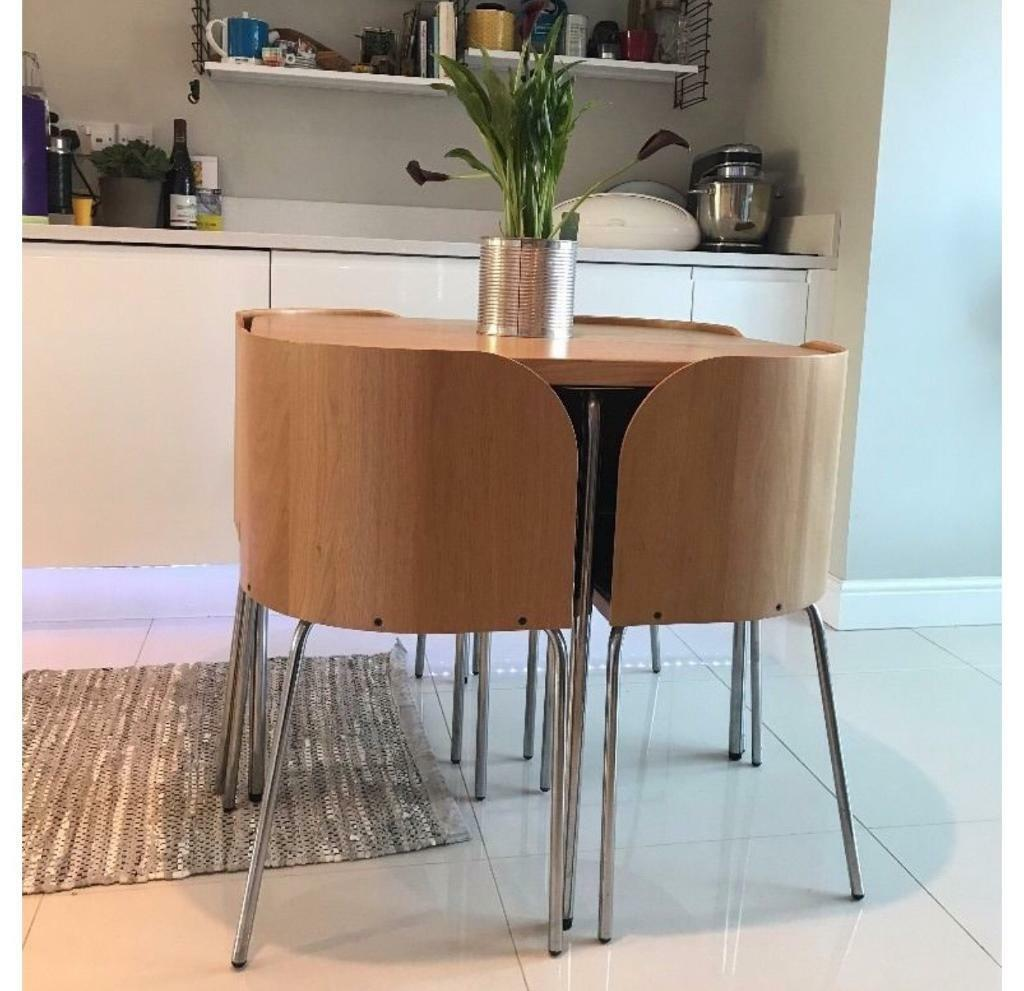 Hidden Kitchen Table Ikea Dining Table And 4 Hidden Chairs In Blackburn