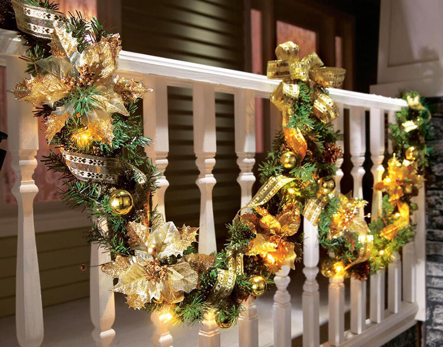 Decoration De Noel Exterieur Video Christmas Garland Buying Guide | Ebay
