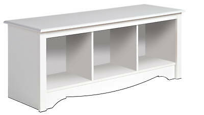 New white prepac large cubbie bench 4820 storage usd 114 99 end date