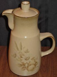 """DISCONTINUED DENBY MEMORIES LARGE 11"""" COFFEE POT NEW 