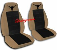 Brown and Black Longhorn Seat Covers Ford F-150 Captain ...