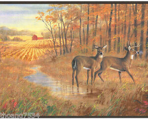 Fall Scene Desktop Wallpaper Deer Autumn Lodge Cabin Hunting Wood Lake Sunset Wildlife