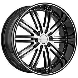 22 Inch Menzari Z08 Staggered black wheels rims 5x120 BMW 6 7 series Range Rover | eBay