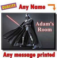 DARTH VADER STAR WARS - PERSONALISED DOOR / Room SIGN ...