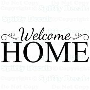 3d Removable Wallpaper Welcome Home Family Removable Vinyl Wall Decals Sticker