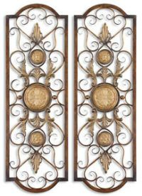 Tuscan French Metal Scroll Over Door Window Micayla Wall ...