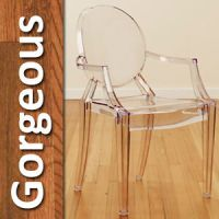 Modern Clear Acrylic Lucite Transparent Ghost Arm Chair ...
