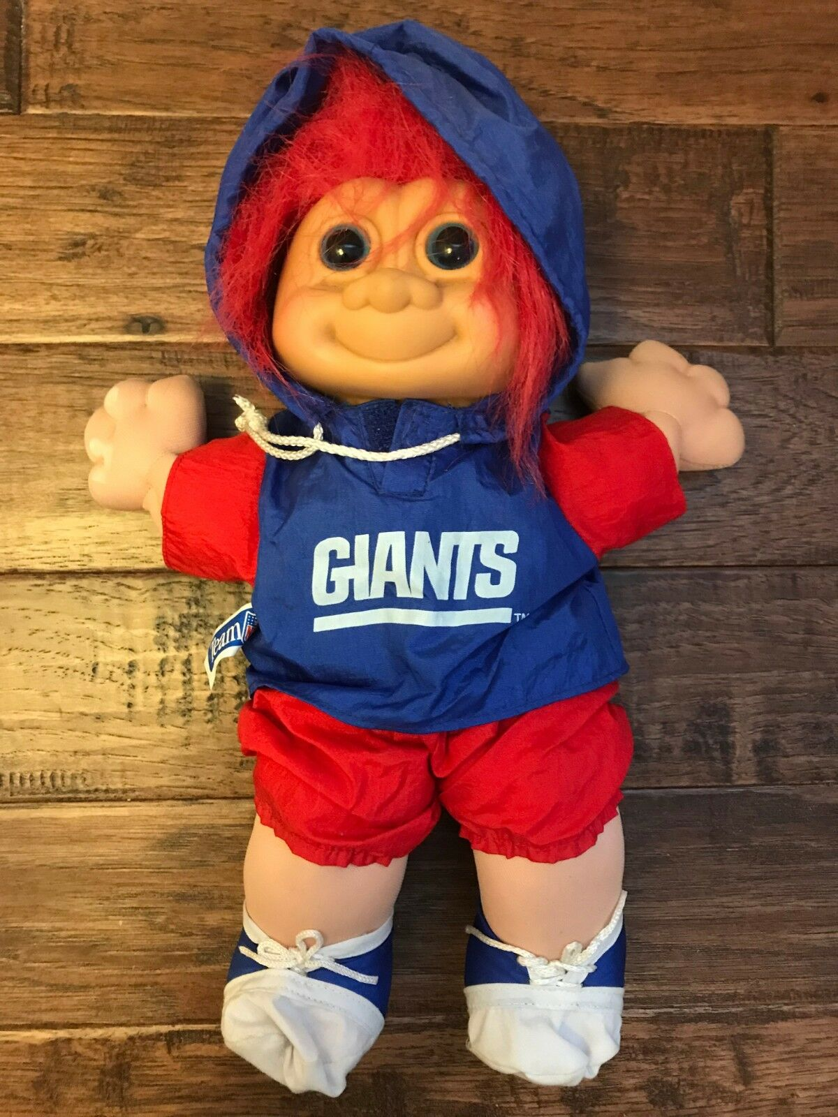 Multiplex 12mm Gamma Vintage Russ New York Giants Red Hair Nfl Plush Troll Doll